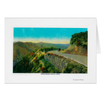 Overlooking Castaic CreekRidge Route, CA Card