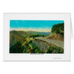 Overlooking Castaic CreekRidge Route, CA Greeting Card