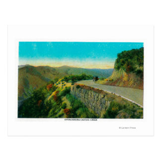 Overlooking Castaic CreekRidge Route, CA Postcard