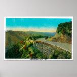 Overlooking Castaic CreekRidge Route, CA Poster