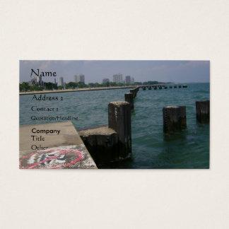 Overlooking Chicago Skyline Business Card