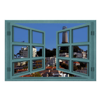 Overlooking Coit Tower Window Poster