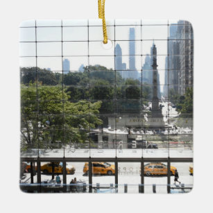Overlooking Columbus Circle New York City Photo Ceramic Ornament