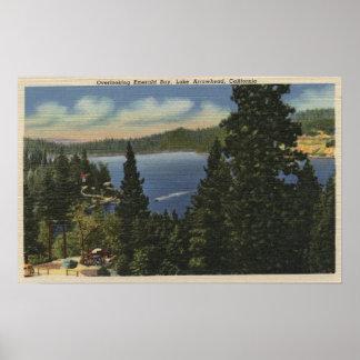 Overlooking Emerald Bay Poster