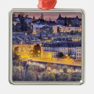 Overlooking Fribourg in the early evening Metal Ornament