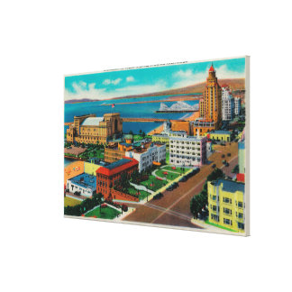 Overlooking Ocean Avenue, showing Auditorium Canvas Print