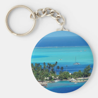 Overlooking Paradise Basic Round Button Keychain