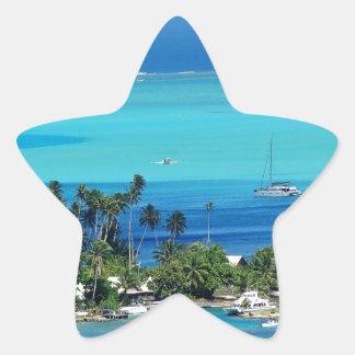 Overlooking Paradise Star Sticker