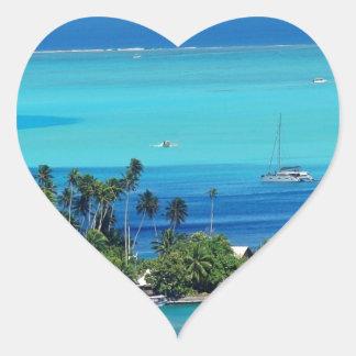 Overlooking Paradise Heart Sticker