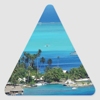 Overlooking Paradise Triangle Sticker