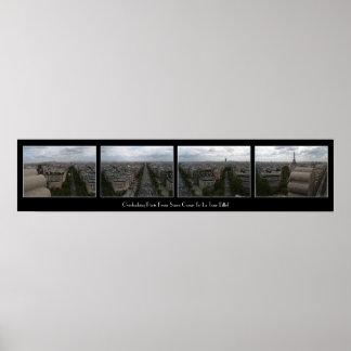 Overlooking Paris Print