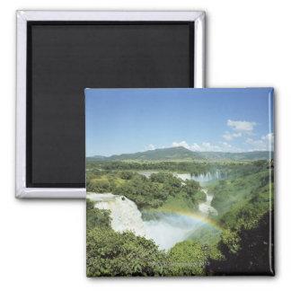 Overlooking scenic Iguazu Falls in South America 2 Inch Square Magnet