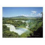 Overlooking scenic Iguazu Falls in South America Postcard