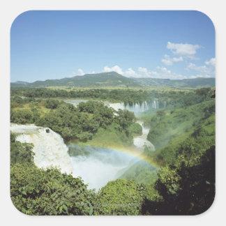 Overlooking scenic Iguazu Falls in South America Square Sticker