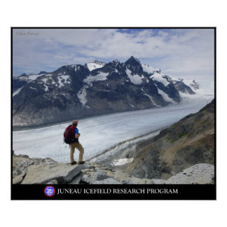 Overlooking the Gilkey Trench in Alaska Poster