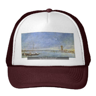 Overlooking The Lagoon With The Tower Of Malghera Trucker Hats