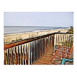 Overlooking The Ocean Postcard