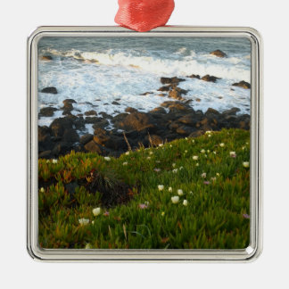 Overlooking the Sea Cliffs in Crescent City Metal Ornament