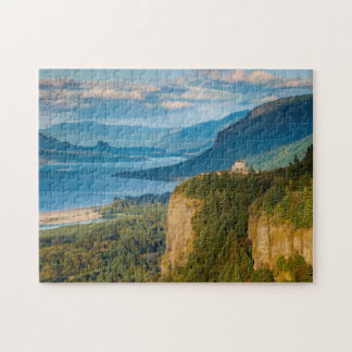Overlooking The Vista House And The Columbia Jigsaw Puzzle