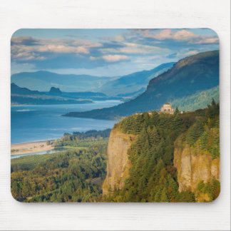 Overlooking The Vista House And The Columbia Mouse Pad