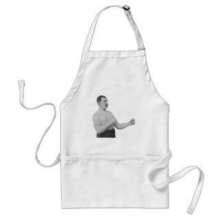 Overly Manly Man Meme Adult Apron