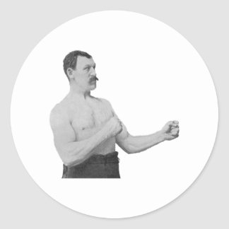 Overly Manly Man Meme Classic Round Sticker