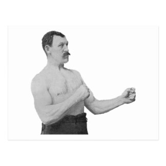 Overly Manly Man Meme Postcard