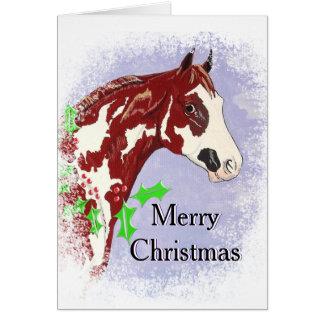 Overo Paint Horse (Christmas) Card