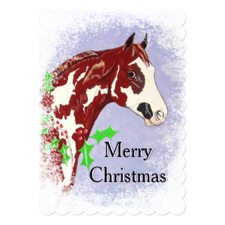 Overo Paint Horse (Christmas) Card