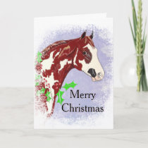 Overo Paint Horse (Christmas) Holiday Card