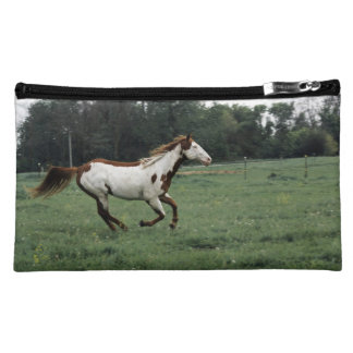 Overo Paint Horse Cosmetic Bag