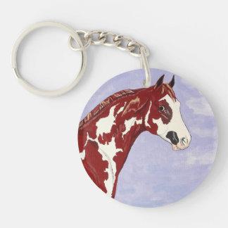 Overo Paint Stallion - Keychain