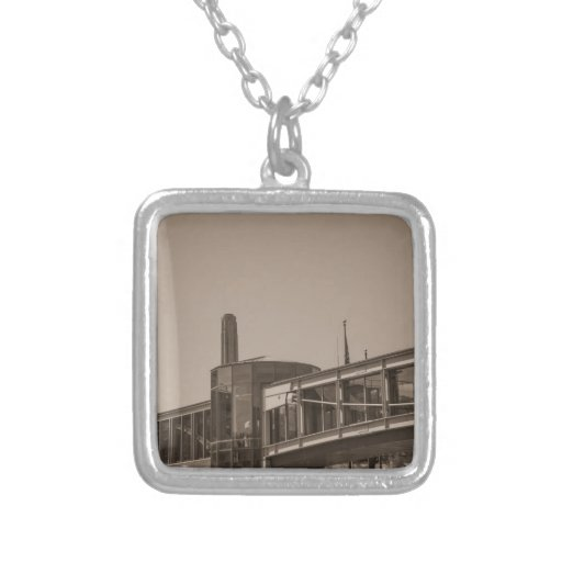 overpass square pendant necklace