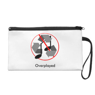 Overplayed Recycled Music Wristlet Purse