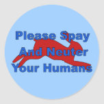 Overpopulation Bombs Classic Round Sticker