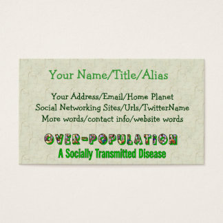 Overpopulation is an STD Business Card