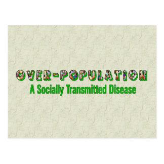 Overpopulation is an STD Postcard