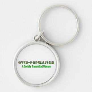 Overpopulation is an STD Silver-Colored Round Keychain