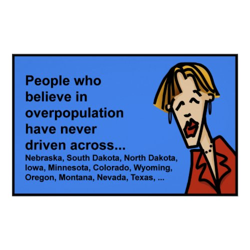 overpopulation myth print
