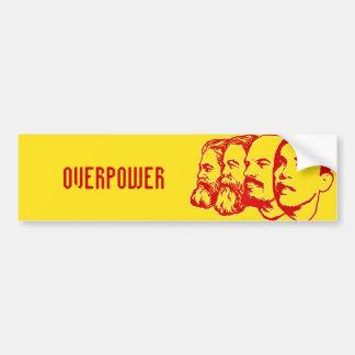 OVERPOWER bumper sticker Car Bumper Sticker
