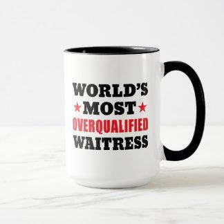 Overqualified Waitress Mug