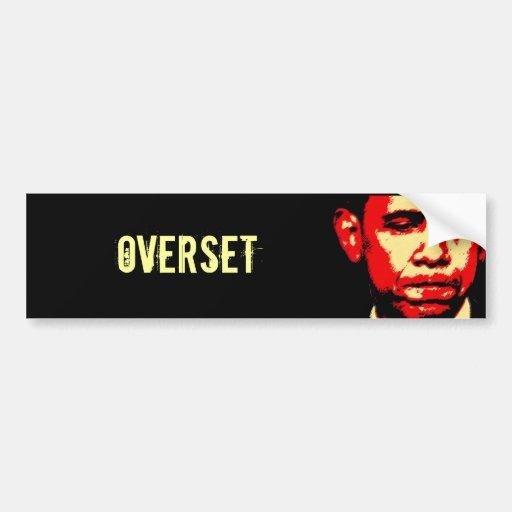OVERSET bumper sticker
