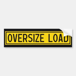 oversize load bumper sticker
