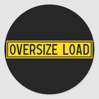 oversize load classic round sticker