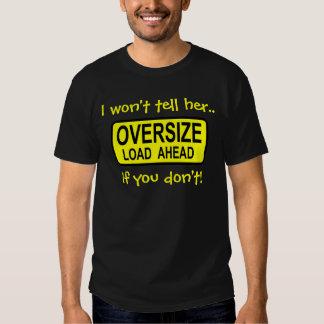 """Oversize Load"" Men's Black T-Shirt"