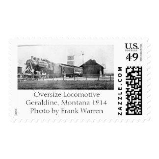 Oversize Locomotive Postage Stamps