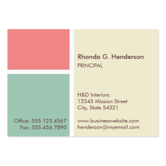 Oversize modern color block beige professional business card templates