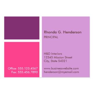 Oversize modern color block purple professional business card templates