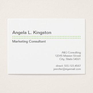 Oversize modern micro dot apple green gray custom business card