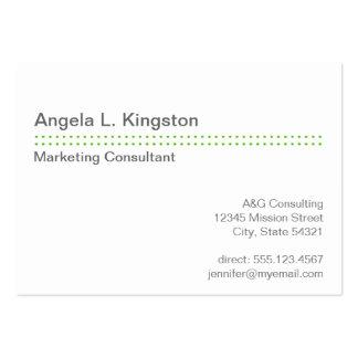 Oversize modern micro dot apple green gray custom business card template